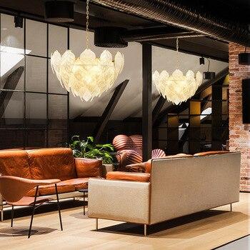 Lámpara de decoración de casa de lujo luz personalidad de comedor de vidrio de moda creativa arte Luz