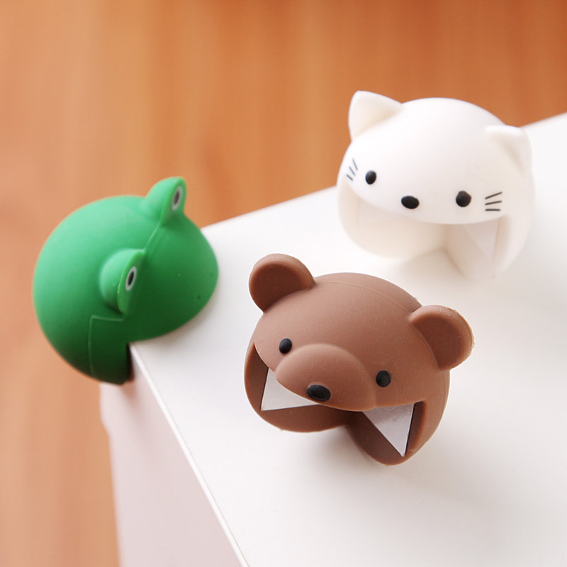 2pcs/Set Cute Animal Baby Safety Furniture Corner Guards Soft Child Baby Safety Silicone Table Desk Corner Protector Edge Cover