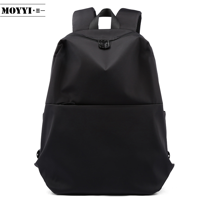 MOYYI Slim Laptop Backpack Men Office Work Men Backpacks Business Bag Black Super Quality Oxford Anti-Wrinkle Bags