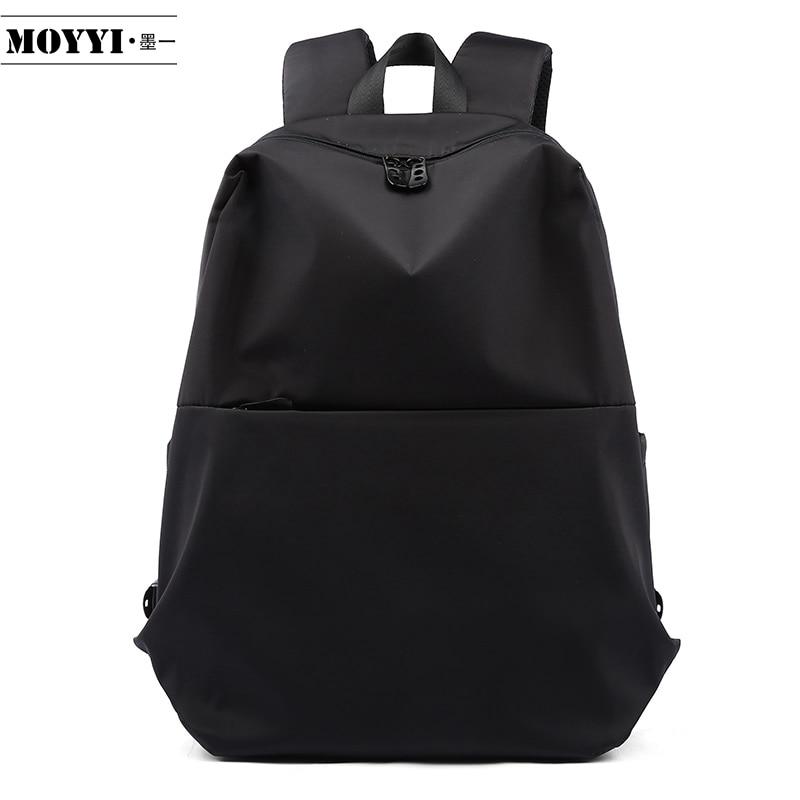 MOYYI Slim Laptop Backpack Men Office Work Men Backpacks Business Bag Black Super Quality Oxford Anti-Wrinkle Bags