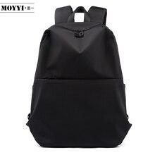 Moyyi magro computador portátil mochila homem trabalho de escritório mochilas saco de negócios preto super qualidade oxford anti rugas sacos