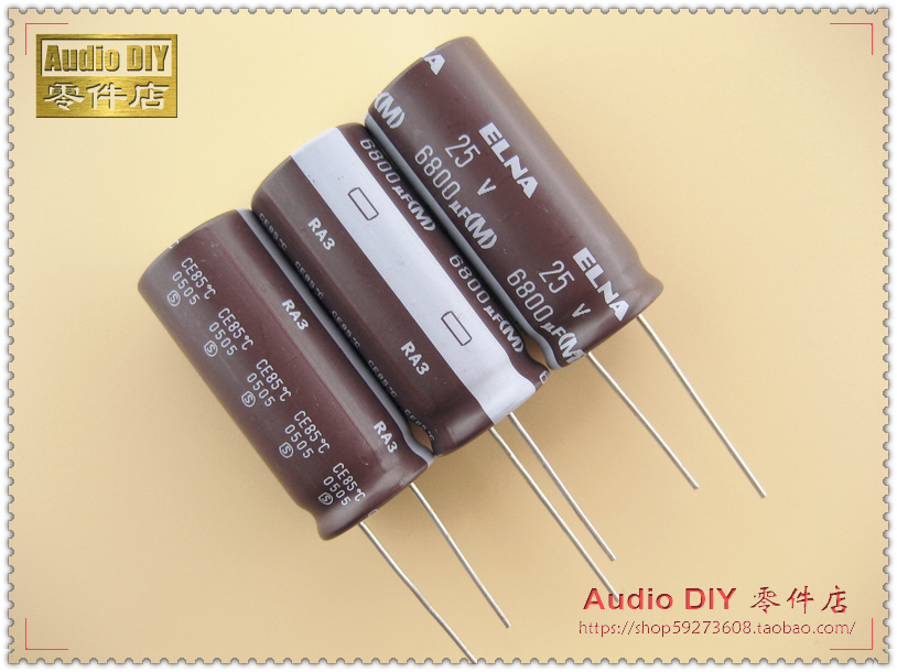 2019 hot sale 10pcs/30pcs ELNA RA3 Series Electrolytic Capacitors for 6800uF/25V Audio free shipping