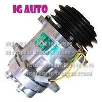 24V 7H15 Auto AC Compressor For Tractor Massey Ferguson Air Conditioner Compressor 1104419 15082742 11412632 auto ac compressor ac compressor compressor 7h15 -