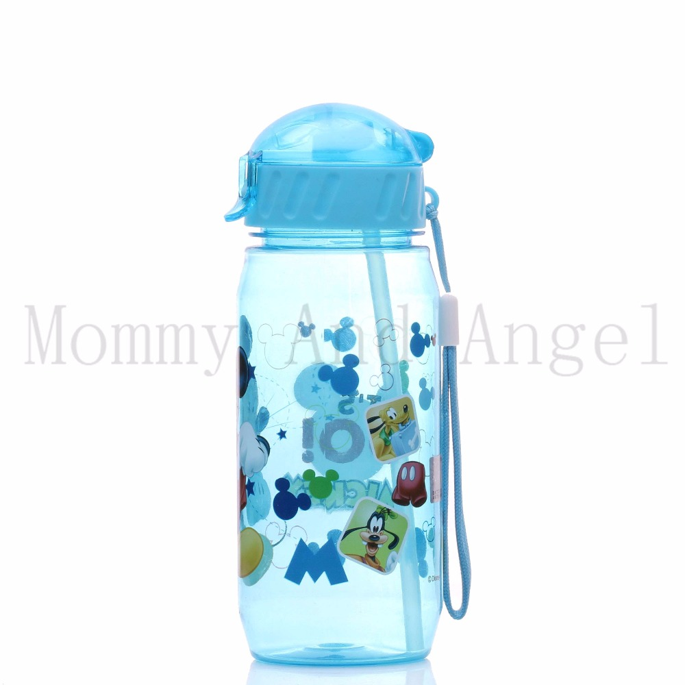 HOT SALE Disne Minnie/Mickey Mouse Kids Drinking Bottle Folding Straw School Childrens C ...