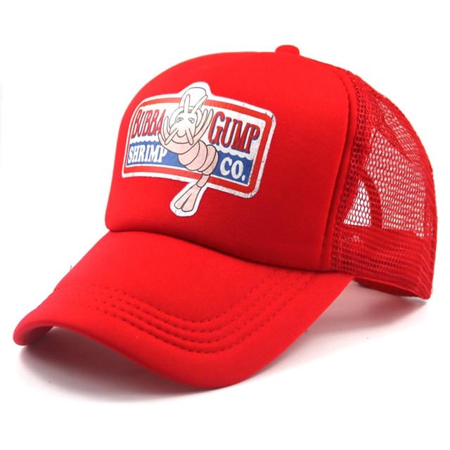 a8f79a26767c0 Unisex de moda Forrest Gump recuperar Cosplay sombrero de malla ajustable gorra  de béisbol BUBBA GUMP