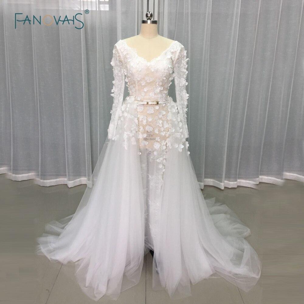 Gorgeous sexy beach wedding dresses 2017 sheer 3d flower for Gorgeous beach wedding dresses