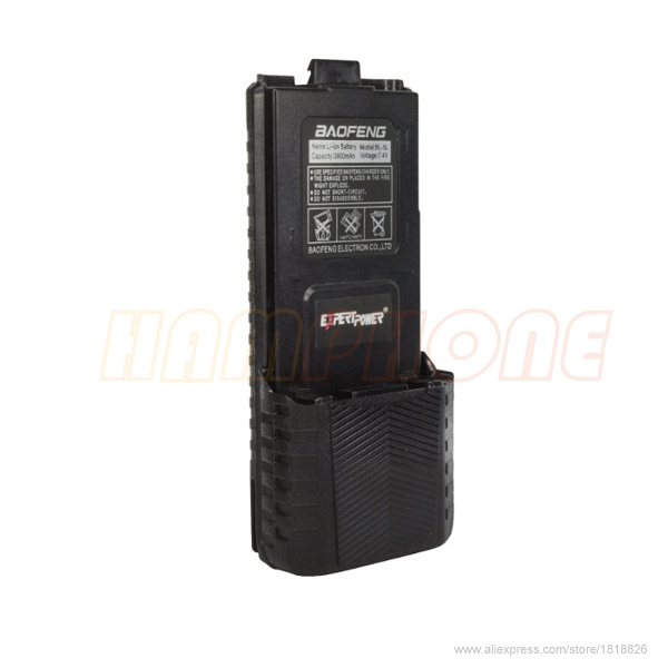 imágenes para Original alta capacidad grande Baofeng UV5r batería 3800 mah para la Radio Walkie Talkie UV 5R Baofeng UV-5R accesorios Baofeng batería