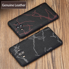 wangcangli Genuine Leather Phone Case For HUAWEI Mate 9 10 Line Texture Back Cover Huawei Nova 2S P10 P20 Pro Plus Cases