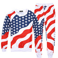 New 3D Printed USA Flag Graphic Sweatshirts +Jogger Pants Casual Suit Unisex Couple Sportswear Trousers And Tops Or Single Piece
