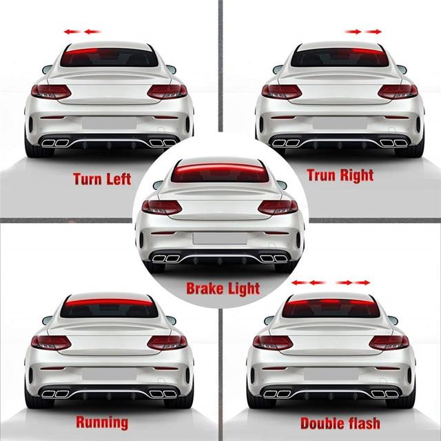 OKEEN Super lumineux rouge coulant clignotant voiture supplémentaire troisième lumière de frein queue haute monture lampe darrêt 12 V voiture clignotant bande
