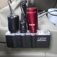 dc 12v 12V-24V לרכב 3 Way רכב מצית סיגריות Socket ספליטר מטען מתאם מתח DC + USB 3 בנמל Plug (4)