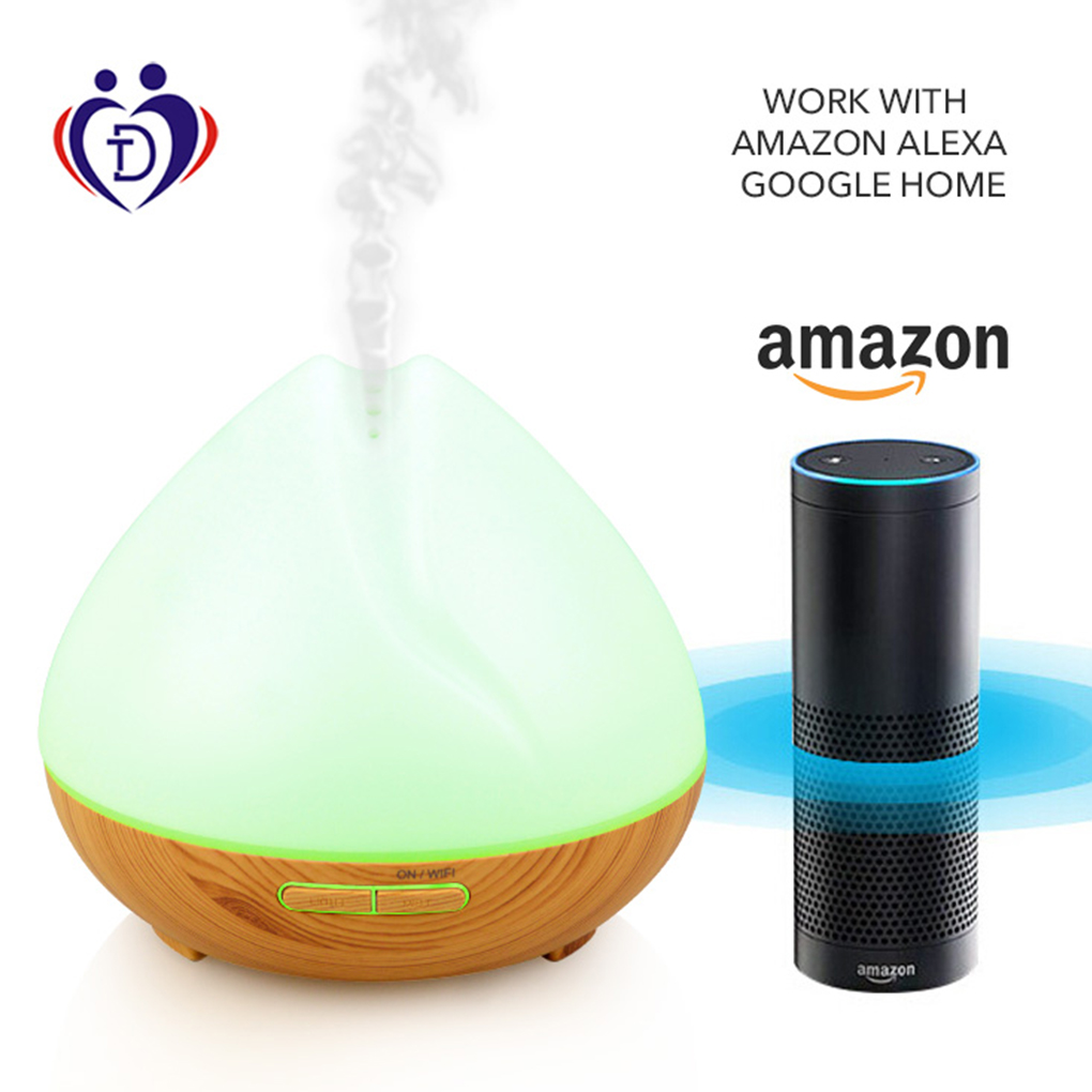 400 ML Wifi intelligent commande vocale parfum huile essentielle brûleur d'encens brume humidificateur aromathérapie diffuseur purificateur