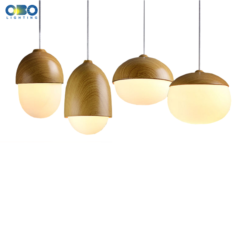 Vintage Wood Grain Painted Metal Pendant Lamp Indoor Lighting Dining Room Pendant Lights Cord Lenght 1.2M  E27 110-240V