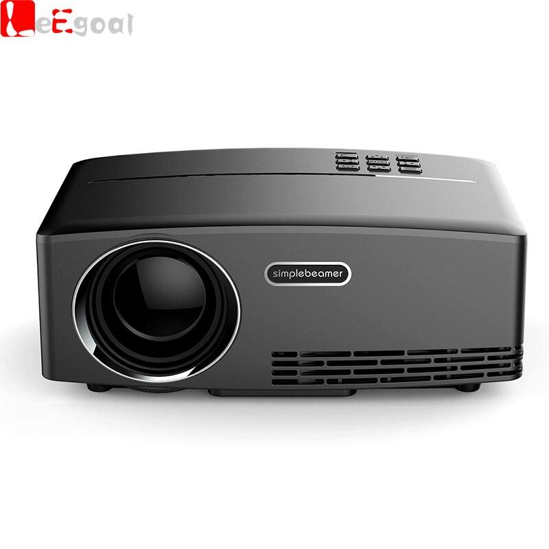 Leegoal gp80 mini proyector 1080 p hdmi reproductor de medios usb led proyector