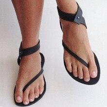 Women Flat Sandals Gladiator Flip Flops Casual Shoes Buckle Strap Beach Sandals Ladies Plus Size Sandalias Mujer 2019 недорго, оригинальная цена