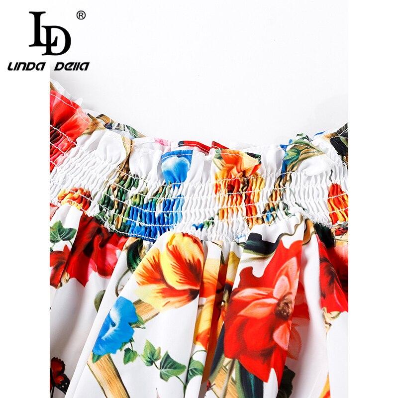 Della Outre Ld Décontracté Jupes Pièces Top Et Ensembles Sexy Linda Mode Femmes De Élastique Imprimer Deux Ensemble Costume Floral L'épaule Partie Multi rPwP5B
