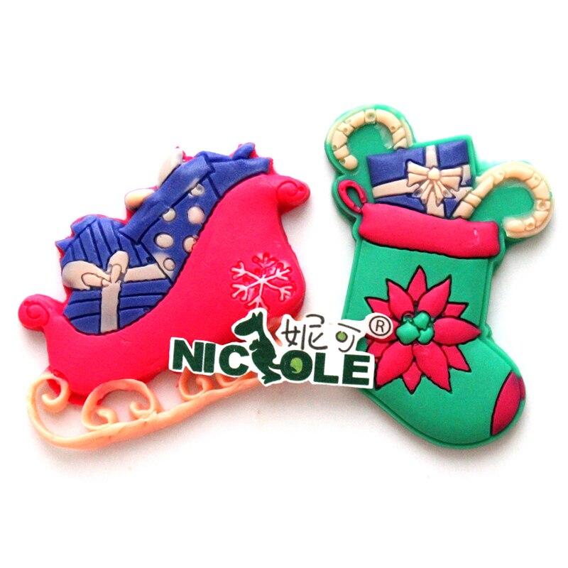 Nicole f0538 Navidad regalo forma molde de silicona fondant cake decoración  Herramientas 9ef6641700d