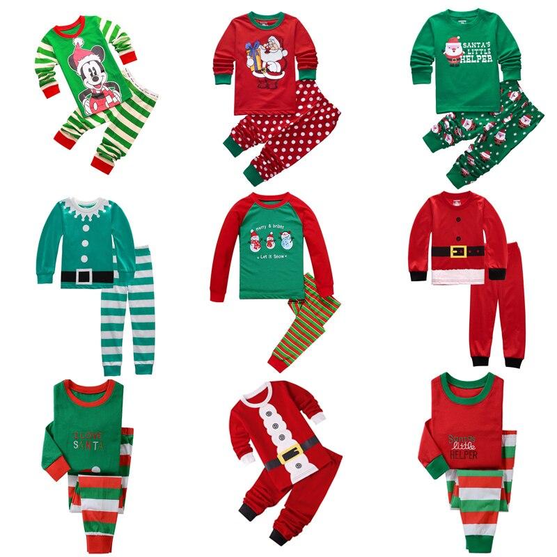 Kids Boys Pajamas Toddler Sleepwear Clothes Sets Infant Child Robe Children New Year Pijamas For Boy Christmas Pyjamas