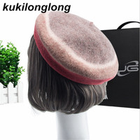 Kukilonglong Wool Winter Warm Berets For Women Good Quality Gorras For Ladies Casual Solid Color Girls