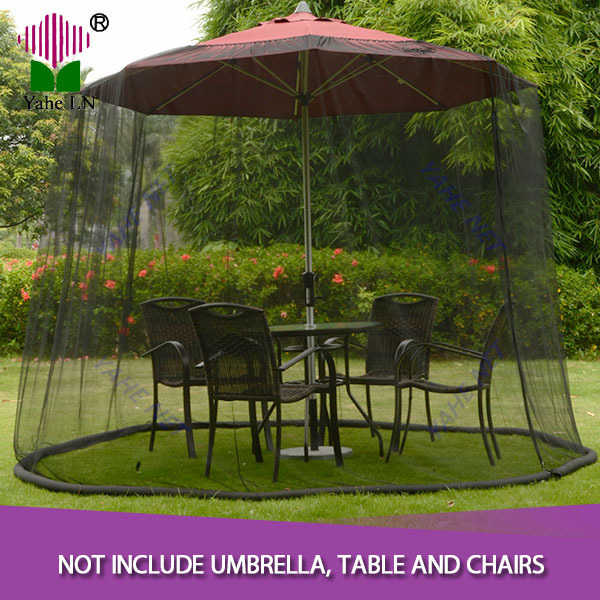 patio umbrella screen 11 black outdoor table net canopy insect bug net mesh garden - Black Patio Umbrella