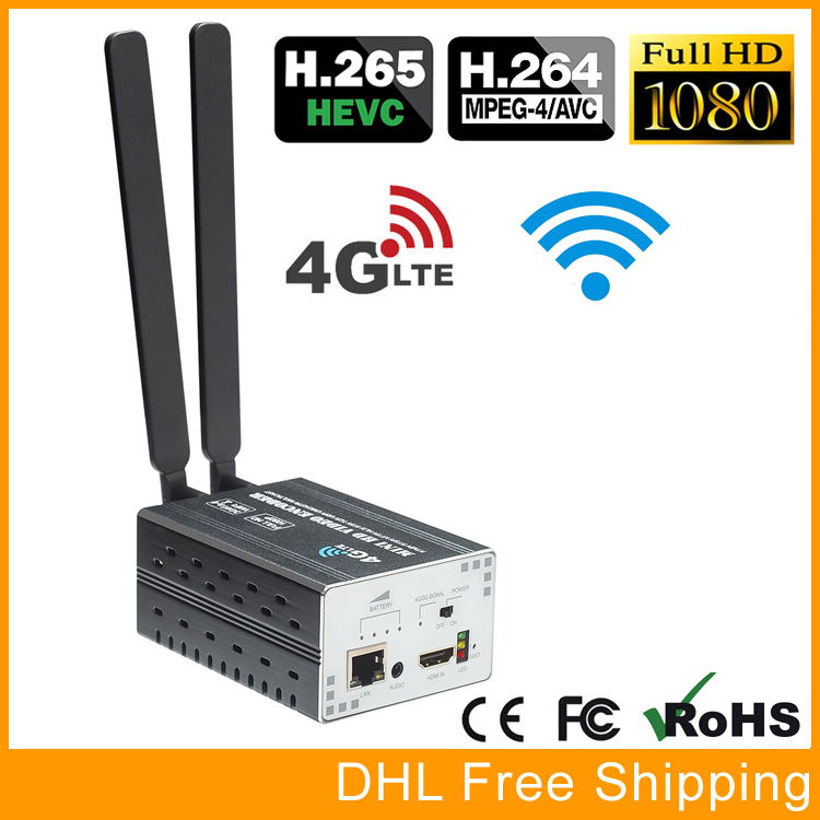 HEVC H.265 H.264 3G 4G LTE 1080P HD HDMI Video Encoder HDMI Transmitter Live Broadcast Encoder WiFi RTMP uray 3g 4g lte hd 3g sdi to ip streaming encoder h 265 h 264 rtmp rtsp udp hls 1080p encoder h265 h264 support fdd tdd for live