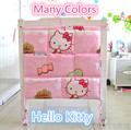 Promotion! Kitty Mickey Baby Bed Hanging Storage Bag,62*52cm,Newborn Crib Diaper And Toys Pocket