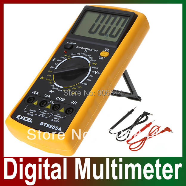Digital LCD Display Voltmeter Ammeter Ohm Test Meter Multimeter DT9205A Wholesale