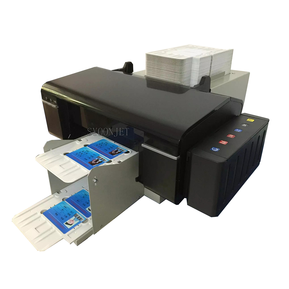 Automatic PVC Id Cards Inkjet Printer With 52 Trays For Epson L800 Printer For Id Card CD-DVD Printing Machine