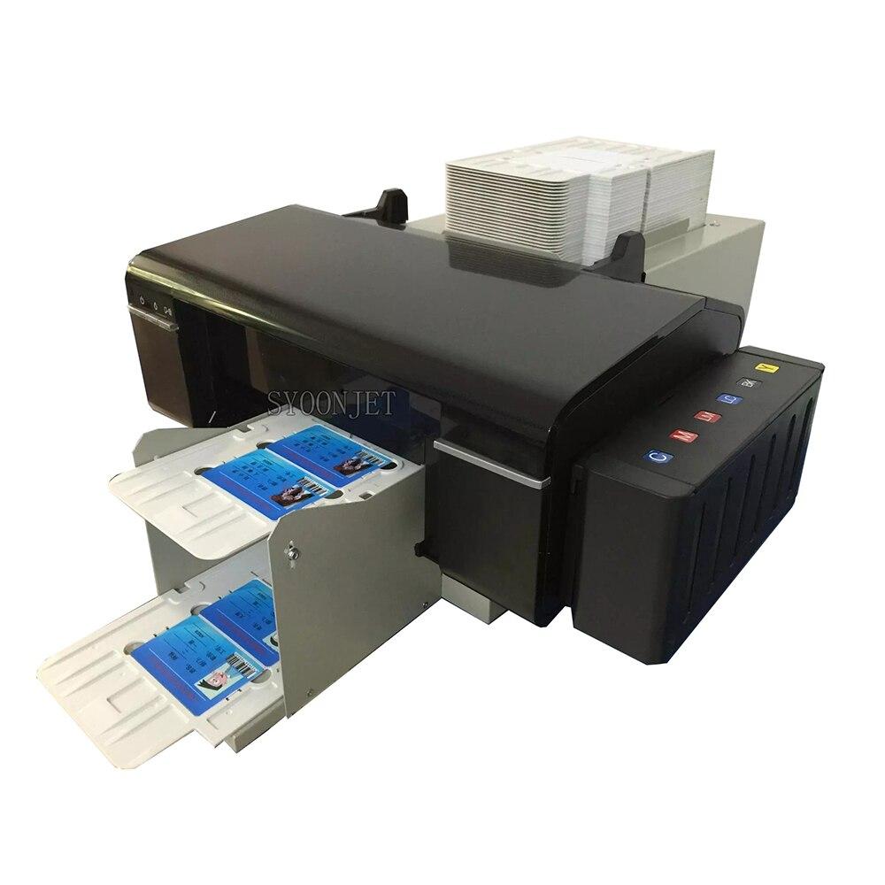 Automatische PVC id karten inkjet drucker mit 52 trays für Epson L800 drucker für id karte CD-DVD druck maschine