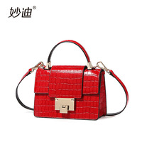 A2086 Simple Alligator Crocodile Leather Mini Small Women Fringed Crossbody Bag Messenger Shoulder Bag Sling Purse