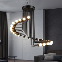Vintage Pendant Light Iron Pendant Lamp Spiral Staircase Lamp Drop light Fixture For Kitchen Hanging Lamp lustre Home Lighting