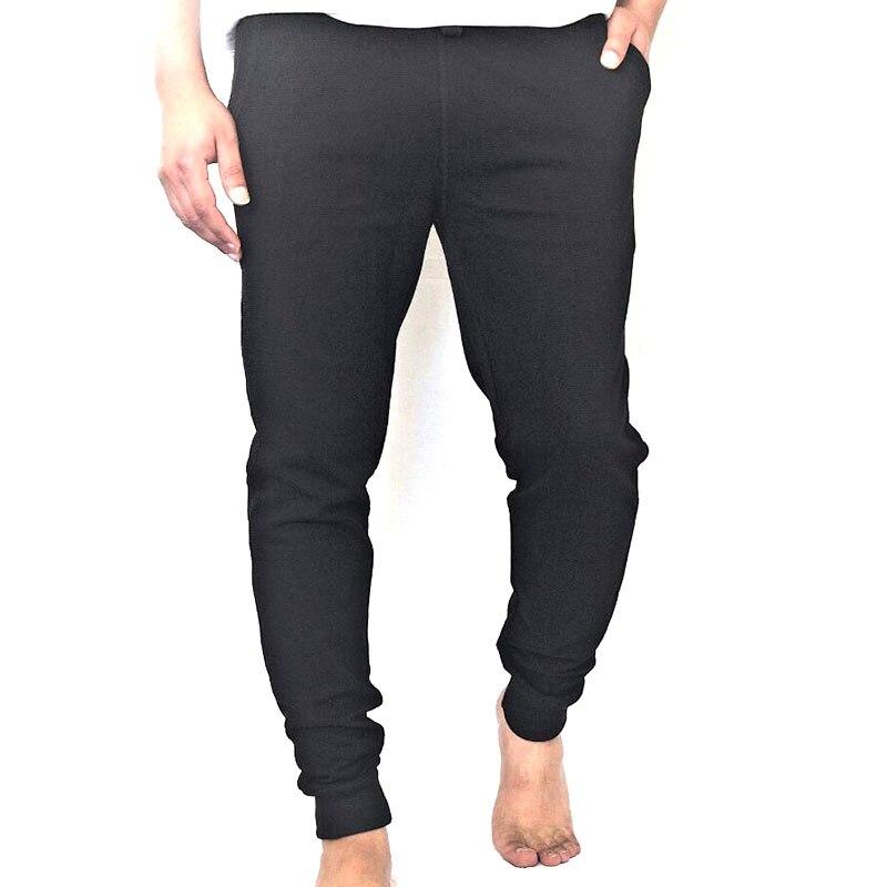 Cotton Men Full Sportswear Pants Casual Elastic Mens ...