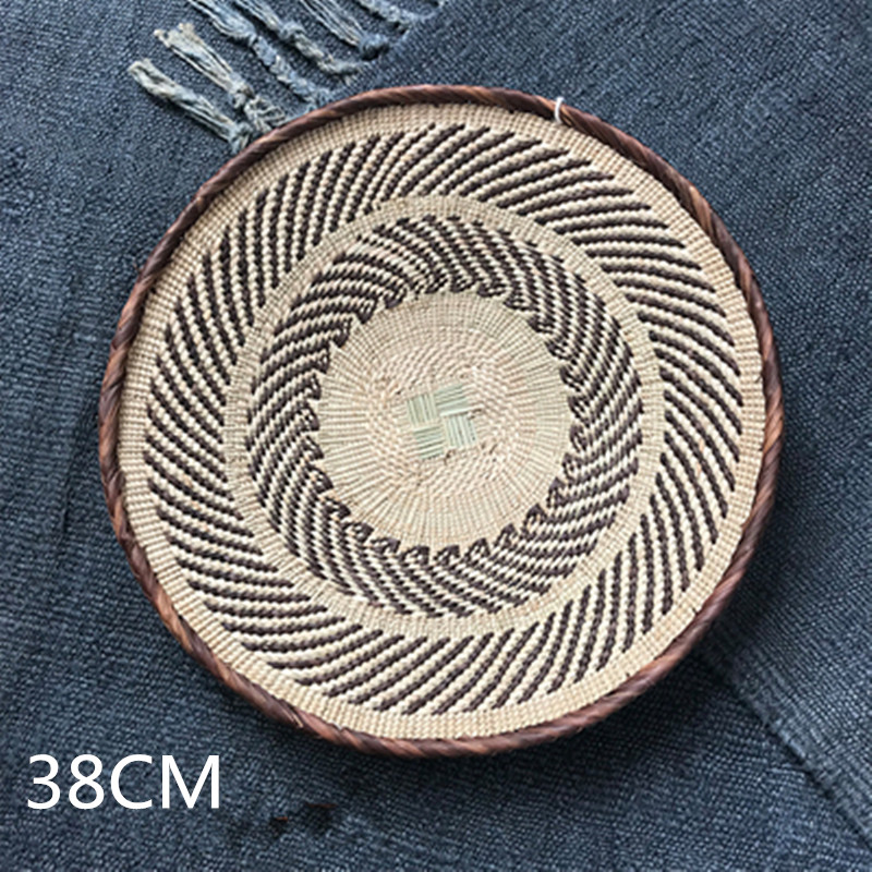 South Africa B&B Wall Hangings Rustic Nordic Style Home Living Room Decoration Straw Plate Housewarming Gift M1948 stitch