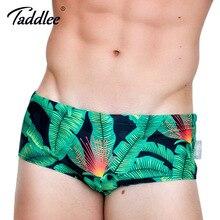 Taddlee Brand Sexy Mens Swimwear Swimsuits Swim Briefs Bikini Gay Penis Pouch Surf Board Shorts Low Waist 3D Printed Boardshorts