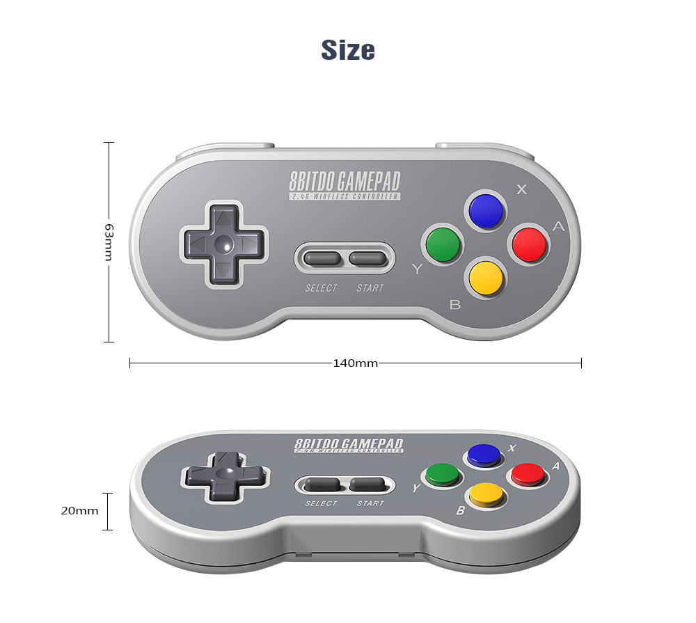 8BitDo SF30 Gamepad Wireless Game Controller with 2.4G NES Receiver for Android PC Mac 15