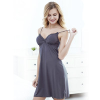 Модальные жгут лето Европейских и Американских кружева сексуальная женщина с груди площадку бюстгальтер плюс размер пижамы ночь платье