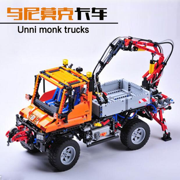 2017 New LEPIN 20019 2088Pcs Technic Truck Unimog U400 Model Building Kits Blocks Bricks Compatible Toys 8110 for children gift lis 37007 new model building kits blocks toys princess anna and prince of the castle for children gift compatible lepin 41068