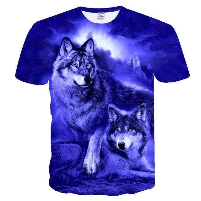 2019 new men 3D Wolf tshirt Funny t shirt Men Women t-shirt spring Summer Tee Short Sleeve Tops O-neck DropShip Eu size xxs-4xl 3