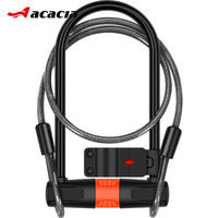 Safety Bicycle U Lock Steel MTB Road Bike Cable Lock Motorcycle Anti theft Lock Cycling U lock with Cable Cycling Accessories