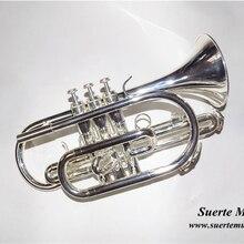 Bb плоский корнет труба инструмент посеребренный тромпета с мундштуком и чехол для переноски музыкальный инструмент профессиональный