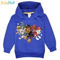 New Promotion 2017 Boys Girls Hoodies Children's Cartoon Dog Print Sweatshirts Fashion Kids Long Sleeve Costume 3-7Y FCM035