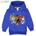 Nueva Promoción 2017 Niños Niñas Sudaderas Con Capucha niños de Dibujos Animados Camisetas Impresas Perro Moda Niños de Manga Larga Traje FCM035 3-7Y