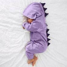 0c876a6d1 Bebé recién nacido bebé niño niña dinosaurio mameluco con capucha trajes  ropa(China)