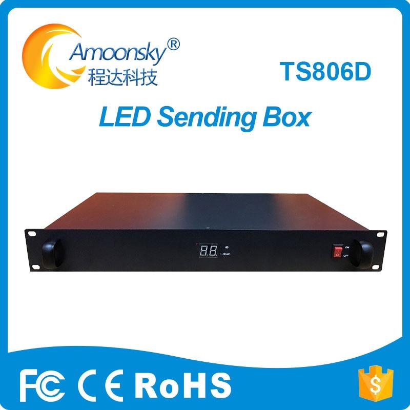 Linsn Ts806d External Sending Card Box With 4 Network Port Sending Card Like MCTRL 600 Novastar
