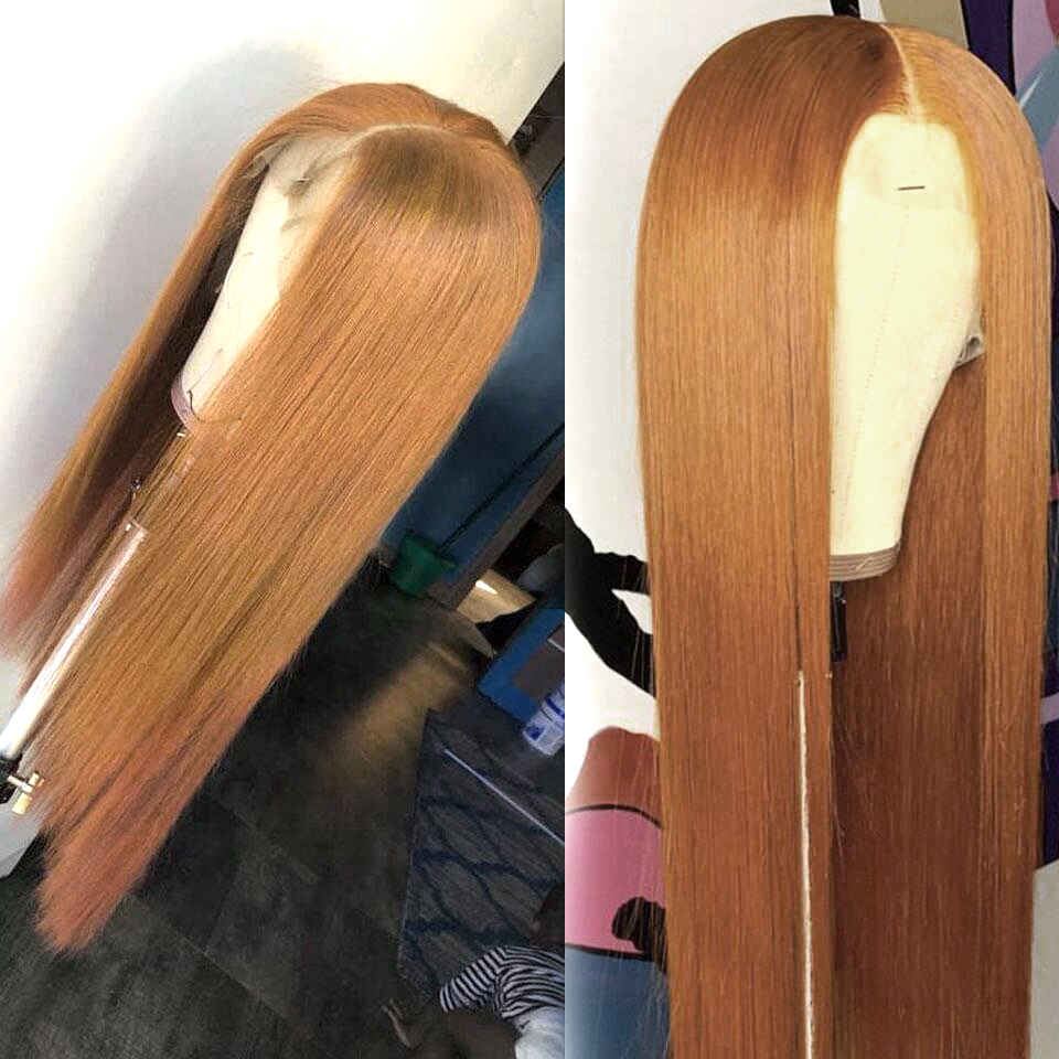 Image 3 - I Envy Blonde Lace Front Human Hair Wigs For Black Women Ombre Human Hair Wigs Straight Peruvian Honey Blonde Wigs #30 Non Remy-in Lace Front Wigs from Hair Extensions & Wigs