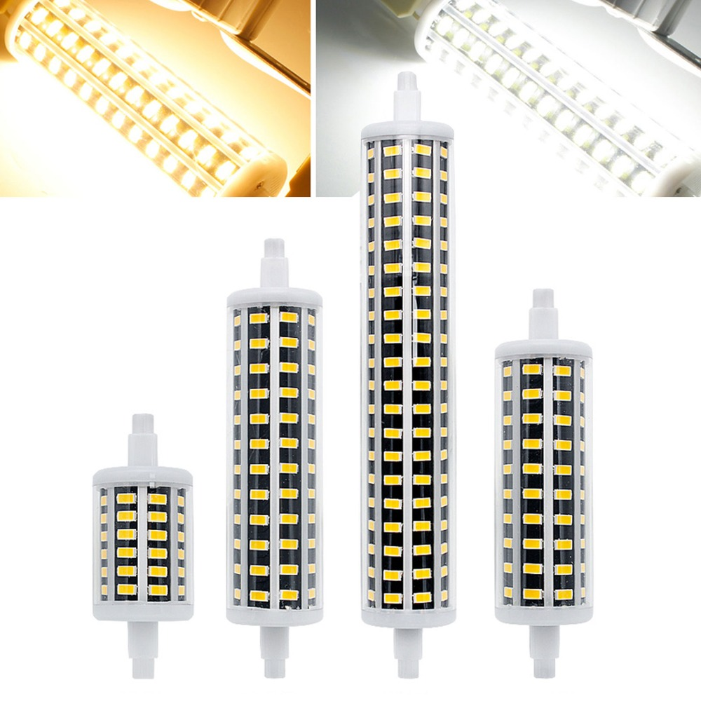 Dimmable <font><b>R7S</b></font> <font><b>LED</b></font> Flood Light J78 J118 J135 J189 78mm 118mm 135mm 189mm 10W 20W 25W <font><b>30W</b></font> 5733 SMD Bulbs Replace 60W Halogen Lamps image