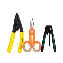 Fiber optic tool kits FTTH stripping + double hole fiber pliers stripper Tool+Scissors 3in 1 ftth