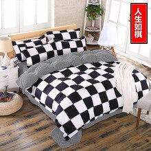 цены summer style brushed cotton duvet cover set queen size 4pcs/set bedding set home textile bed linen flat sheet bedclothes