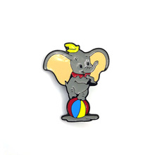Dumbo  Elephant kids men women 90s funny cartoon backpack clothes diy decoration Enamel Brooches badge collar pins gifts