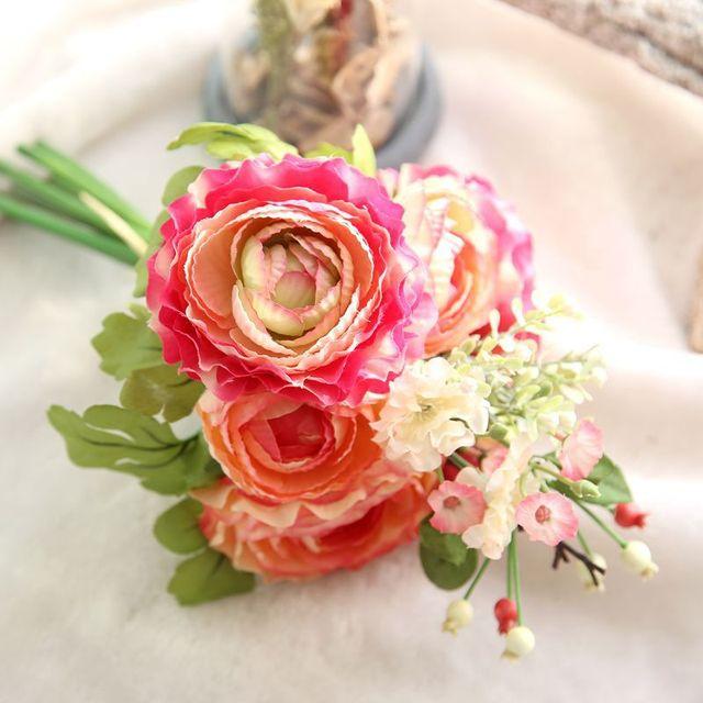 Brand Silk Flowers Decorative Home Furnishing Lotus Flower Wedding Bouquet Lu Berry Bride